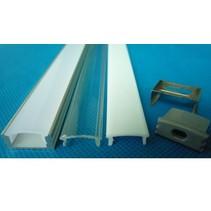 LED profiel opbouw 1m lang 12mm breed met plexi 12mm hoog