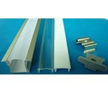 LED profiel inbouw 1m lang 12mm breed met plexi 11mm hoog