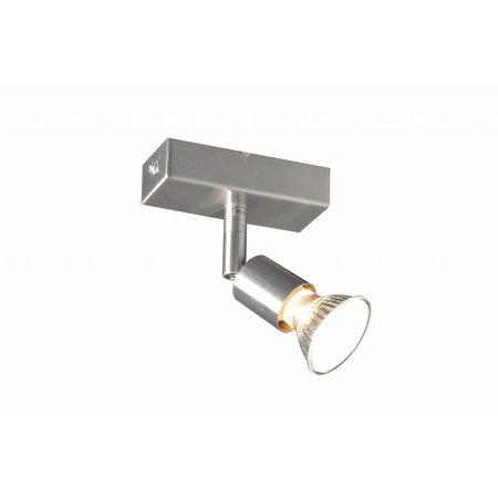 Plafonnier GU10 blanc, gris, bronze, support verre 100mm long