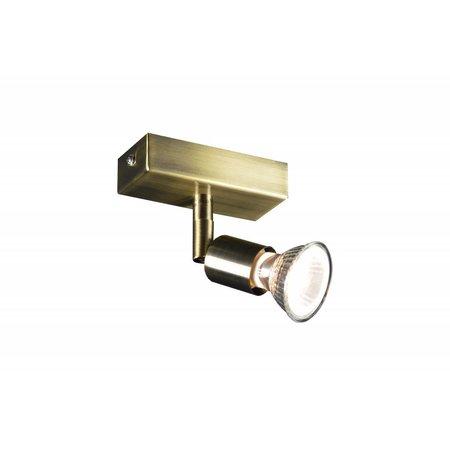 Plafondlamp GU10 wit, grijs, brons, glas 100mm lang