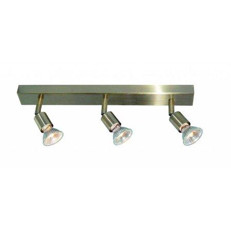 Plafondlamp GU10x3 wit, grijs, brons, glas 400mm lang