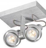 Plafondlamp LED dimbaar GU10 2x4.5W 190mm breed