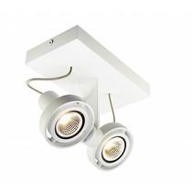 Plafondlamp LED dimbaar GU10 2x4.5W 190mm breed