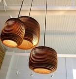 Hanglamp-karton wit of beige design mand Ø 28cm E27