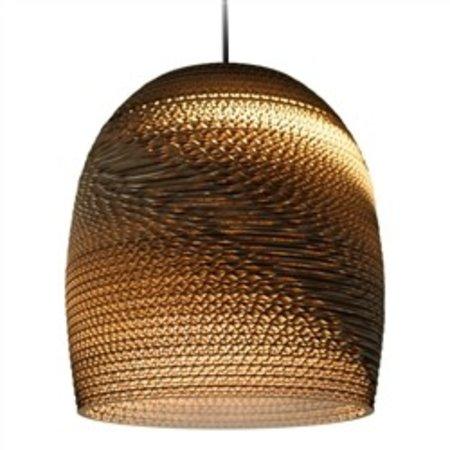 Pendant light design white or beige conic cardboard Ø 27cm