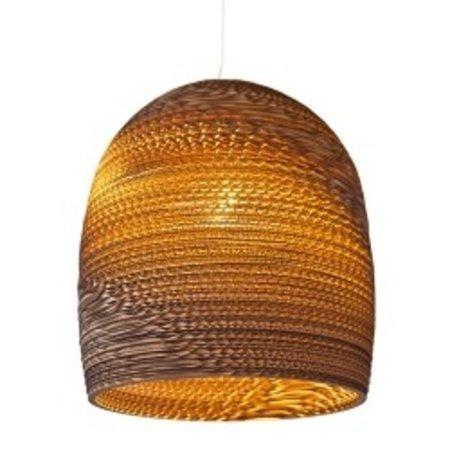 Hanglamp-karton wit of beige design conisch Ø 38cm E27