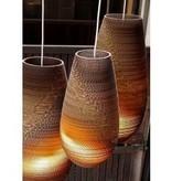Hanglamp-karton wit of beige design vaas Ø 25cm E27