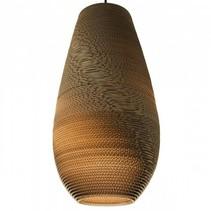 Luminaire suspendu design blanc beige carton vase Ø 25cm