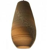 Luminaire suspendu design blanc beige carton vase Ø 36cm
