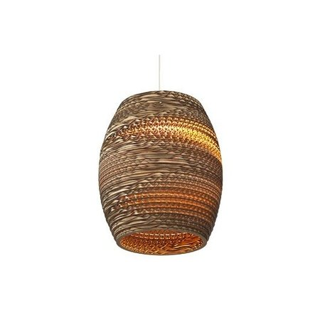Hanglamp-karton wit of beige design olijf Ø 19cm E27