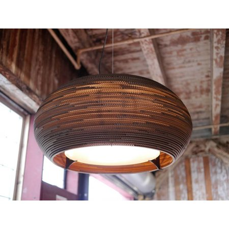 Hanglamp-karton wit of beige design ellips Ø 82cm E27