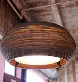Pendant light design white-beige cardboard ellipse Ø 61cm