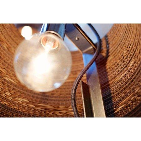 Lampe de bureau design blanche ou beige carton Ø 34cm