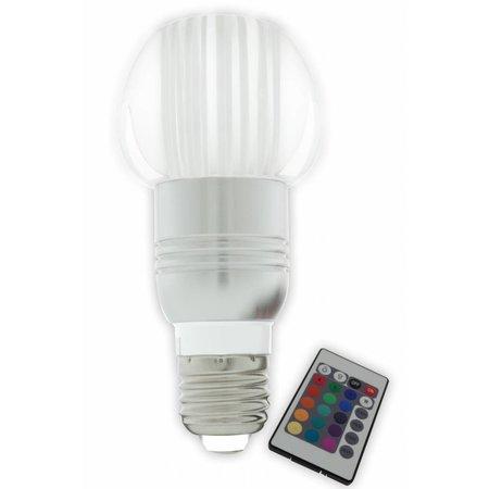 Gekleurde LED lamp RGB E27 3W