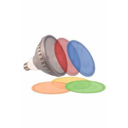 Gekleurde LED lamp PAR 38 18W met verschillende kleurplaatjes