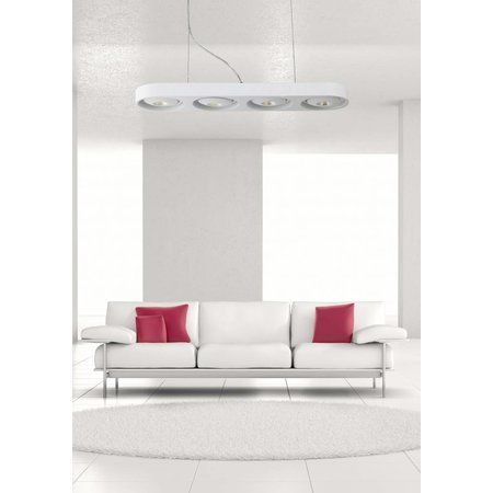 Hanglamp boven eettafel wit design LED 4x5W 631mm breed