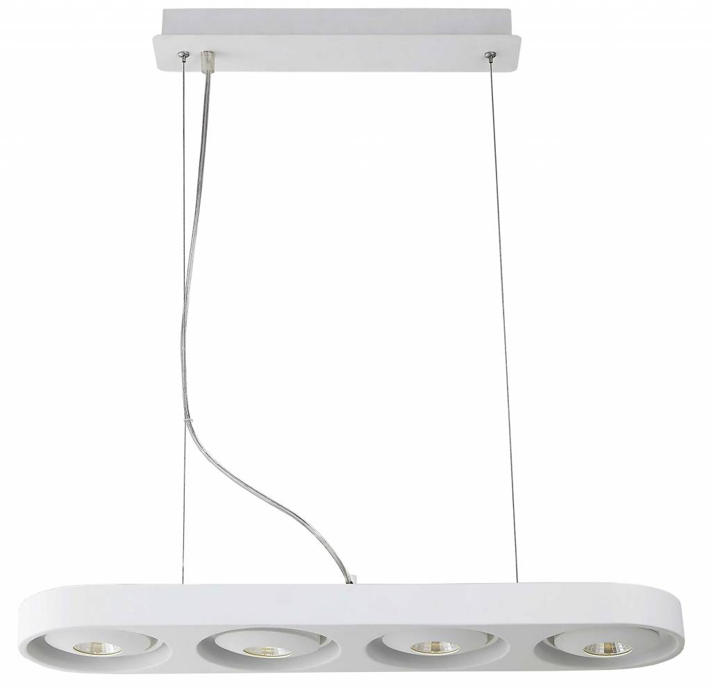 Eettafel Wit Design.Hanglamp Boven Eettafel Wit Design Led 4x5w 631mm Breed