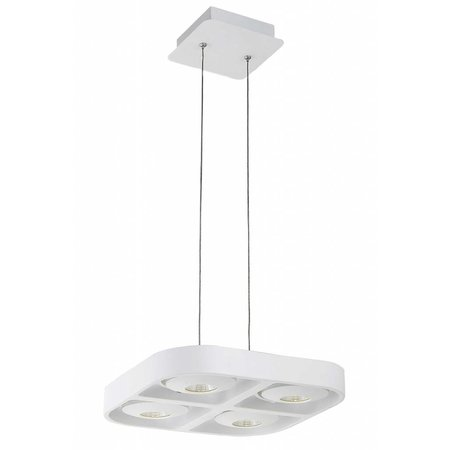 Luminaire suspendu design LED blanc carré 4x5W 302x302