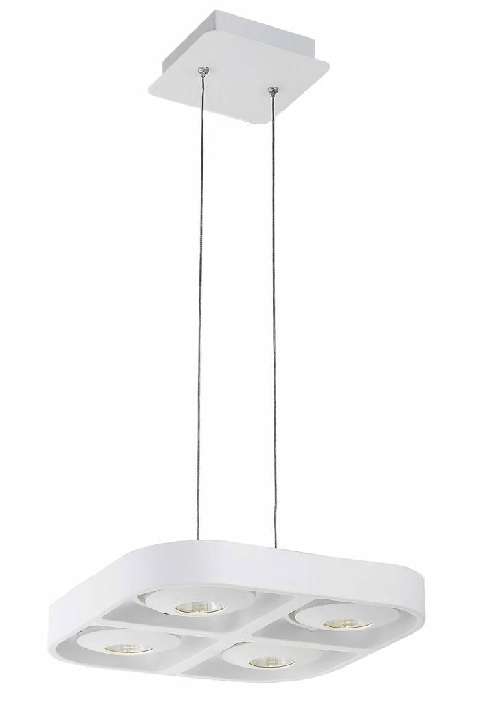 Eettafel Wit Design.Hanglamp Boven Eettafel Wit Design Led 4x5w 302x302mm Myplanetled