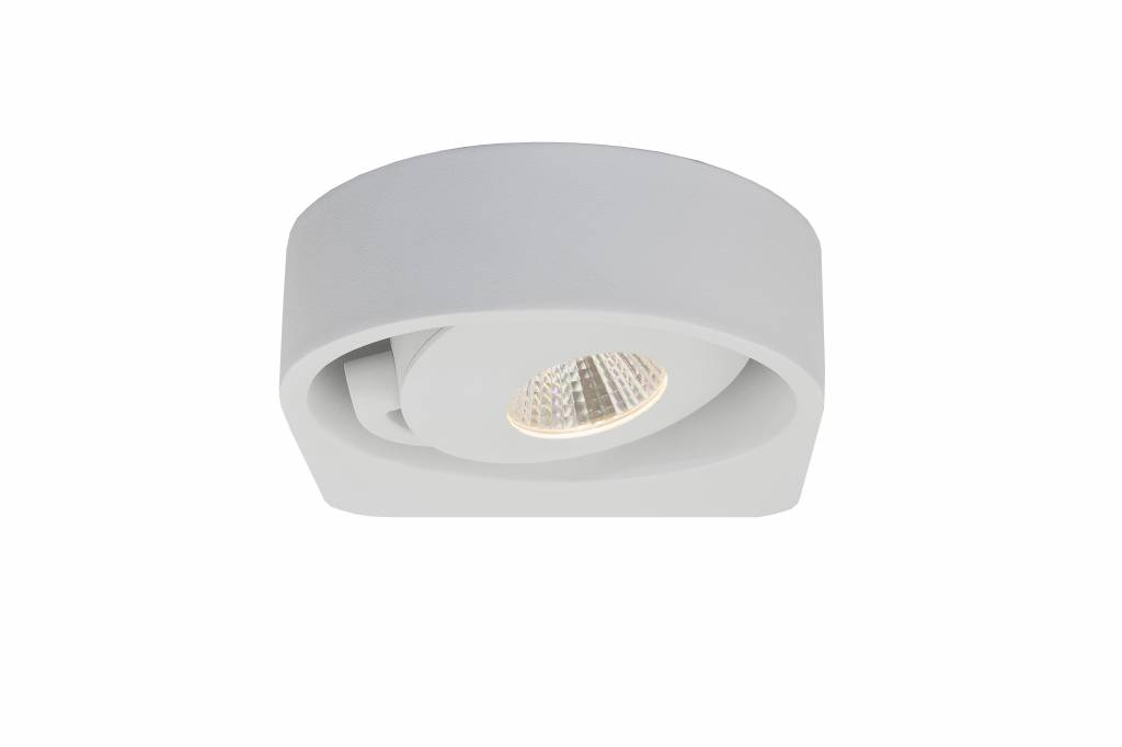 Applique murale blanche led design orientable w mm myplanetled