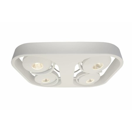 Plafonnier salon LED blanc orientable 4x10W 442x372mm