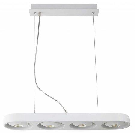 Pendant light design white LED 4x10W 895mm wide