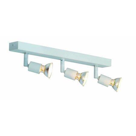 Plafonnier GU10x3 blanc, gris, bronze, support verre 400