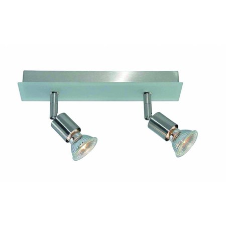 Plafondlamp GU10x2 wit, grijs, brons, glas 250mm lang