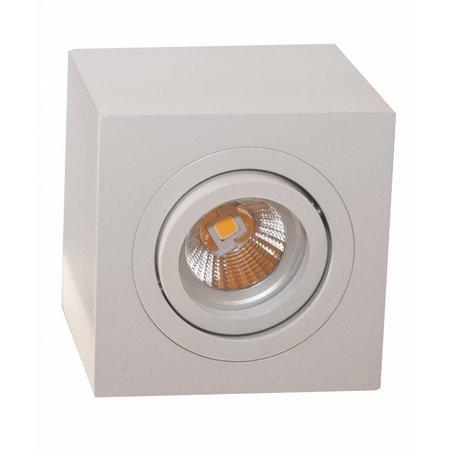 Plafondlamp wit, grijs of zwart vierkant spot GU10 90mm