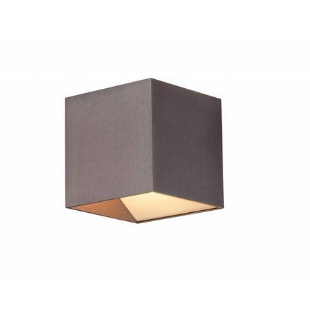 Applique murale LED carrée brun 11W 106mm haut