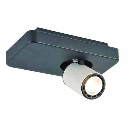 Ceiling light design LED black white orientable GU10 4,5W 200mm wide