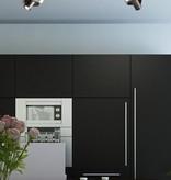 Ceiling light design LED black white orientable GU10 2x4,5W 350mm wide