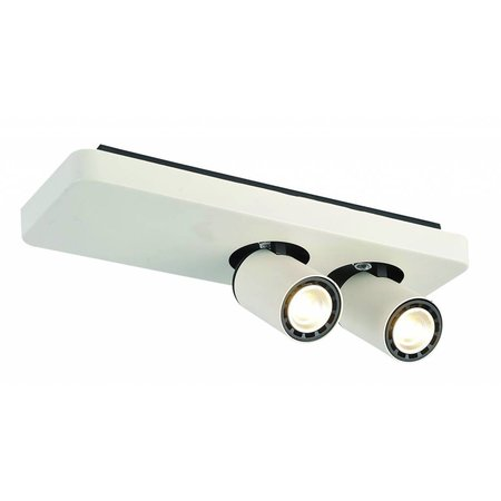 Plafondlamp LED design zwart wit richtbaar GU10 2x4,5W 350mm breed