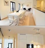 Plafondlamp LED design zwart wit richtbaar GU10 4,5W 200mm breed