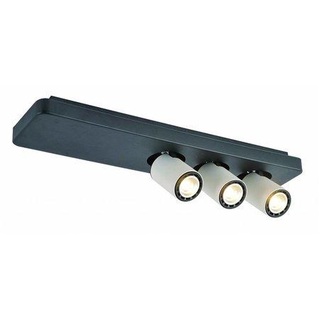 Plafondlamp LED design zwart wit richtbaar GU10 3x4,5W 500mm breed