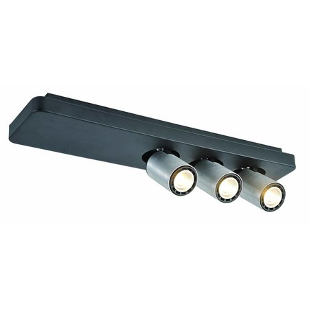 Ceiling light design LED black white orientable GU10 3x4,5W 500mm wide