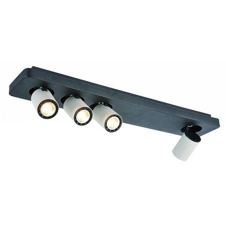 Plafonnier LED design noir blanc orientable GU10 4x4,5W 650mm large