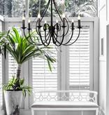 Luminaire suspendu antique blanc ou noir 8xE14 835mm haut