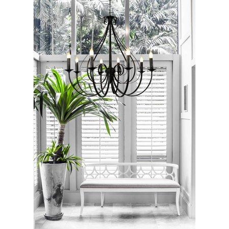 Hanglamp retro wit of zwart 8xE14 835mm hoog