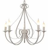 Hanglamp antiek wit of zwart 5xE14 360mm hoog