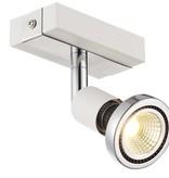 Plafonnier LED blanc/noir/chrome/acier brossé 1xGU10 5W 77mm haut