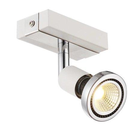 Plafondlamp LED wit/zwart/chroom/geborsteld staal 1x GU10 5W 77mm H