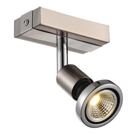 Ceiling light LED white/black/chrome/brushed steel 1xGU10 5W 77mm H