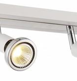 Plafondlamp LED wit/zwart/chroom/geborsteld staal 2xGU10 5W 77mm H