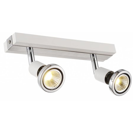 Ceiling light LED white/black/chrome/brushed steel 2xGU10 5W 77mm H