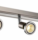 Ceiling light LED white/black/chrome/brushed steel 3xGU10 5W 77m H