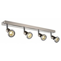 Ceiling light LED white/black/chrome/brushed steel 4xGU10 5W LED 77mm H