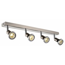 Ceiling light LED white/black/chrome/brushed steel 4xGU10 5W LED 77mm H