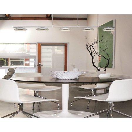 Luminaire suspendu LED blanc dimmable long 5x5W LED COB 1020mm