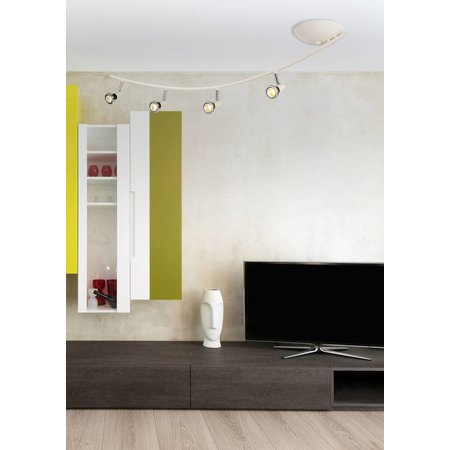 Ceiling light modern LED white/black/chrome/brushed steel 4xGU10 5W